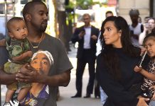 Kim Kardashian and husband Kanye West