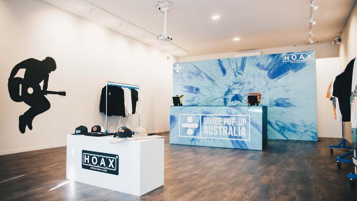 Ed Sheeran's Pop-Up Store