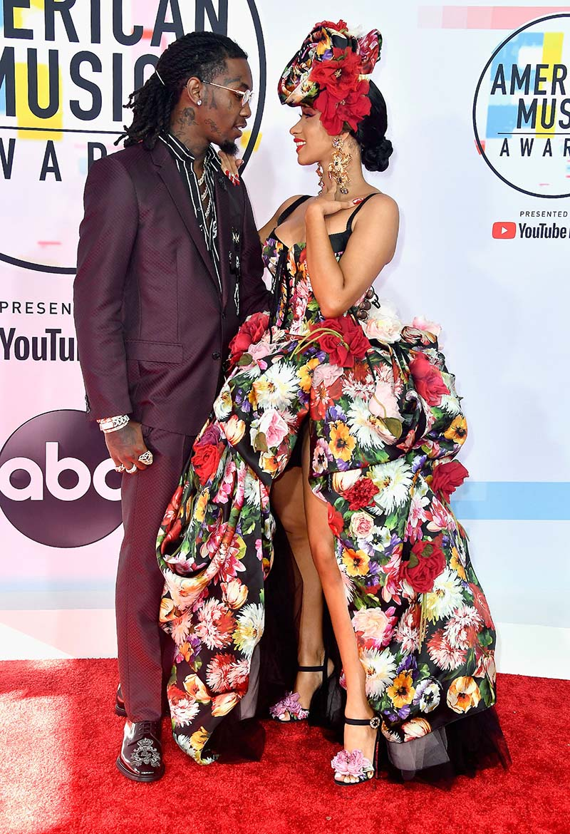 Cardi B & Offset at the American Music Awards