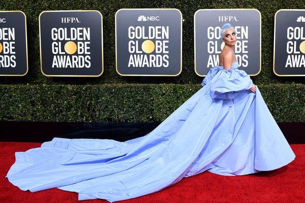 Lady Gaga at 2019's Golden Globes