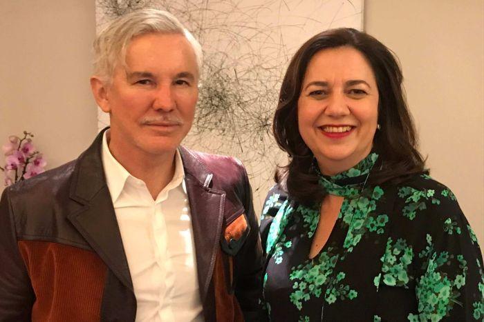 Baz Luhrmann and Premier Annastacia Palaszczuk