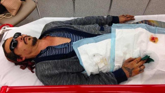 Johnny Depp Australian Hospital Visit