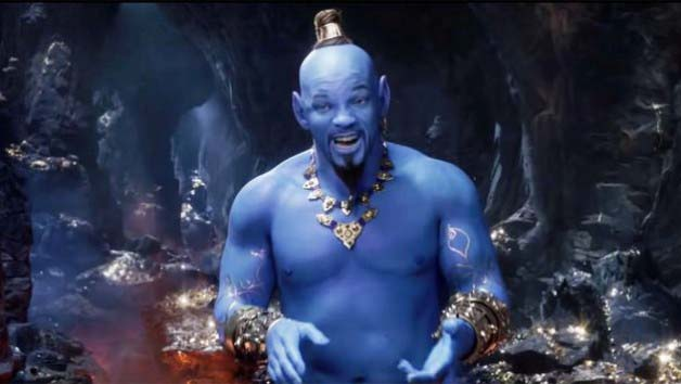 Will Smith as the Genie in Aladdin