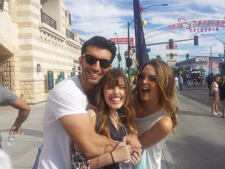 Justin Baldoni with Claire Wineland