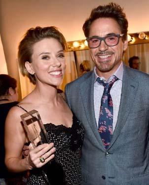 Robert Downey Jr & Scarlett Johansson