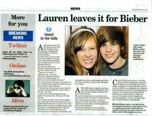 Lauren leaves it for Bieber - news003